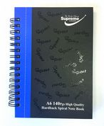 Supreme A6 140 pages Hardback Spiral Note Book